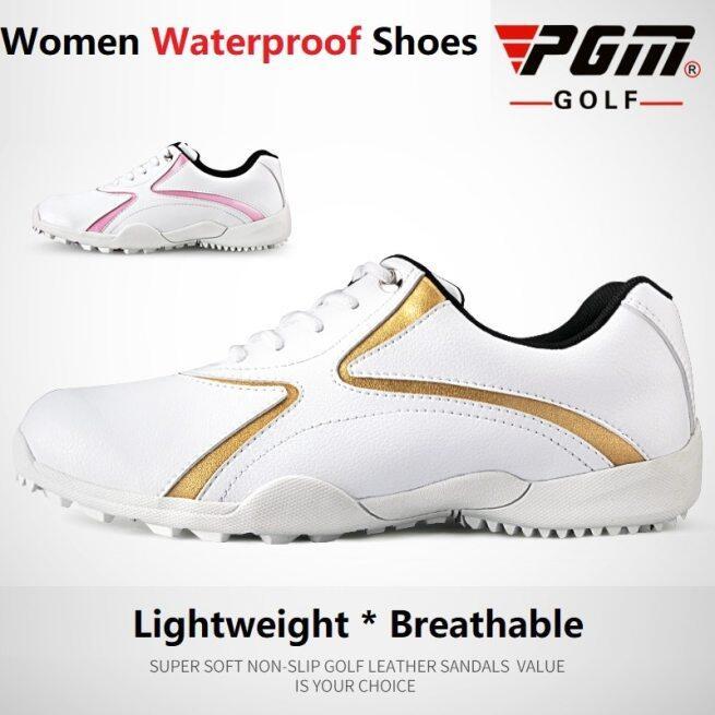 Pgm Phụ Nữ Giày Chơi Golf Không Thấm Nước Không Giày Thể Thao Không Dây Buộc Đi Chơi Cho Nữ Cố Định Nail Thể Thao Thoáng Khí Golf Giảng Viên Siêu Giày Ánh Sáng giá rẻ
