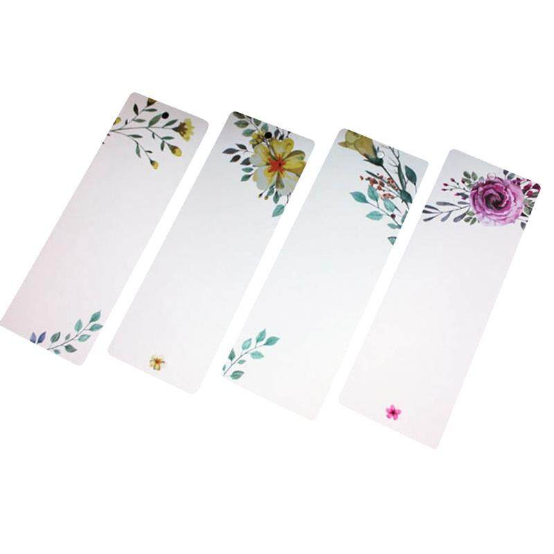 Linfang 40 Pcs/set Elegant Flower Printing Student Diy Simple Bookmark By Linfang Store.