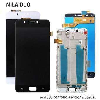 MILAIDUO เดิมสำหรับ For Asus ZenFone 4 MAX Zc520kl ชิ้นส่วนจอสัมผัสแอลซีดีของเครื่องแปลงดิจิทัลกับกรอบสีดำสีขาว 5.2