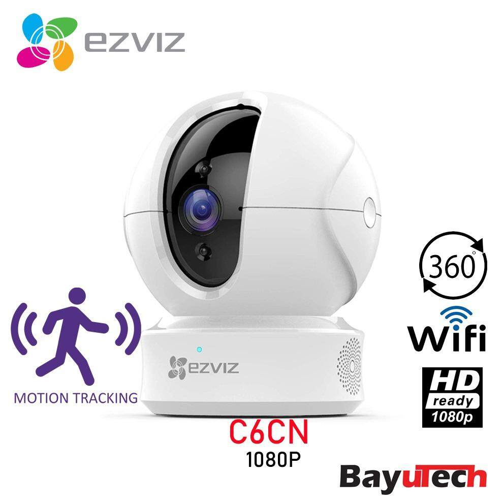[Ready Stock] EZVIZ C6CN 2MP 1080P 32/64/128GB FULL HD Pan/Tilt/ WiFi Home  Security Camera Auto Motion Tracking , Night Vision , Two-Way Audio , Cloud