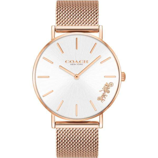 Coach Womens Perry Rose Gold tone Mesh Bracelet Watch 14503126 Malaysia