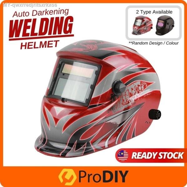 Auto Darkening RANDOM DESIGN Welding Helmet Pro Solar Mask UV Protection Head Shield Art Coated   ABB Kimpalan