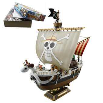 Anime Cartoon One Piece Action Figure PVC Model Meryl Pirate Boat & Thousand Sunny Ship Toy-