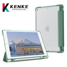 KENKE iPad Case for iPad 10.2 inch iPad 2019 7th iPad 8th iPad 2020 Air4 iPad 2019 Air 3 iPad Pro 10.5 iPad 2017 2018 5th 6th Tích hợp khe cắm bút có chức năng báo thức khi ngủ. Vỏ sau trong suốt bằng silicon viền mềm chống thấm nước