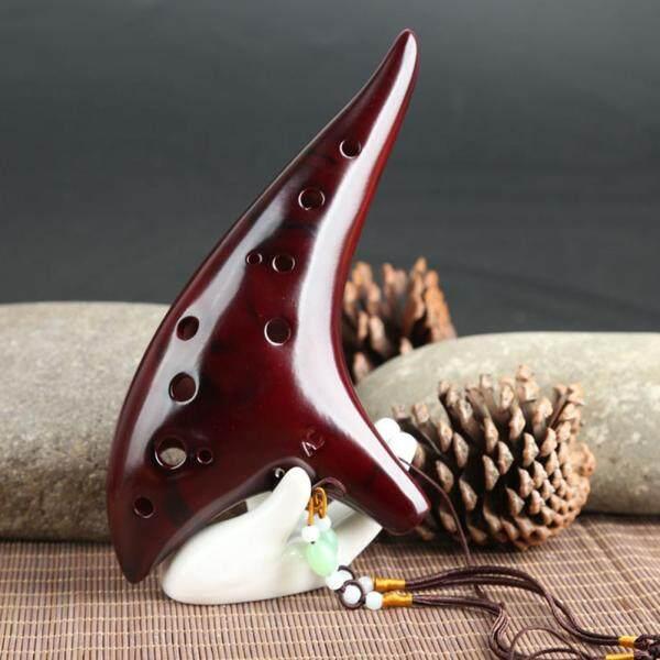 Cổ điển 12 Lỗ Gốm Ocarina Woodwind Cụ Sáo