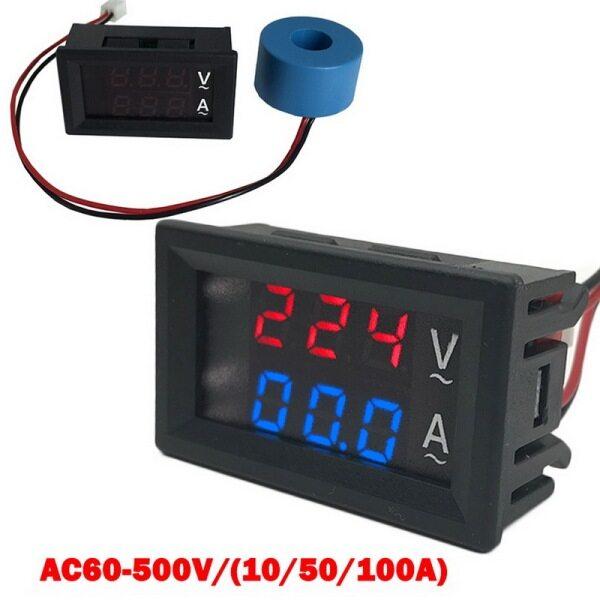 Bảng giá Vôn Kế Kỹ Thuật Số Mini 0.56 Inch Ampe Kế Máy Kiểm Tra Đồng Hồ Đo Dòng Điện Áp Ampe Một Chiều 100V 10A Màu Đỏ Màu Xanh Dual LED Hiển Thị