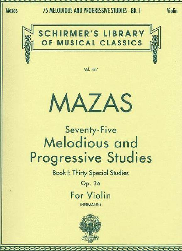 75 Melodious And Progressive Studies, Op. 36 - Book 1 (Violin) Schirmer Library of Classics Volume 487 Violin Method Malaysia