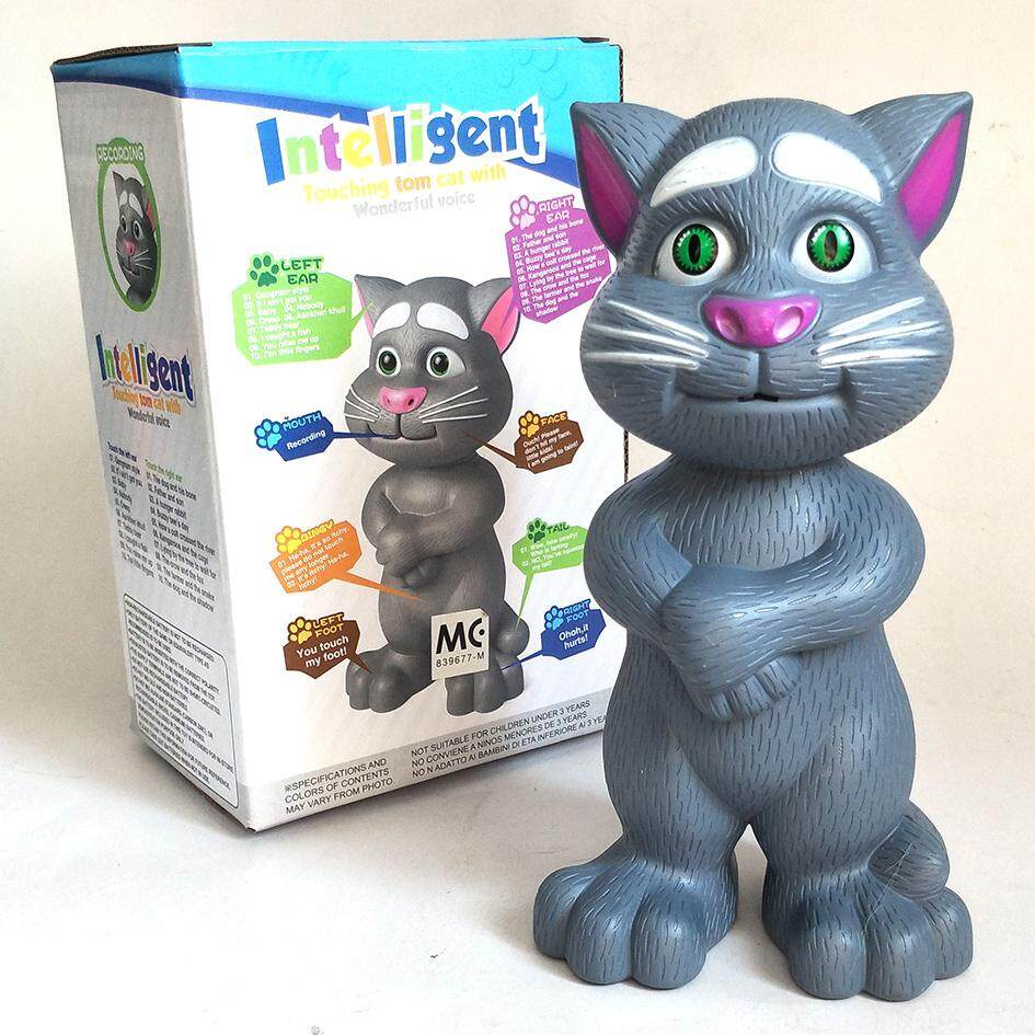 Educational Touch Talking Tom Cat Toy With Recording - Medium Size By Pinkblue.