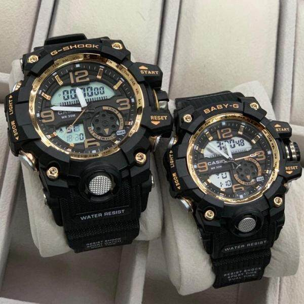 Sports Addition_Casio_Mens G_Shock_Couple Set Watches For Man And Women Resistant Mineral Glass With Free Love Gift Box Malaysia