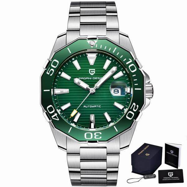 PAGANI DESIGN Mens Classic Diving Series Mechanical Watches Waterproof Steel Stainless Brand Luxury Watch Men Relogio Masculino Malaysia