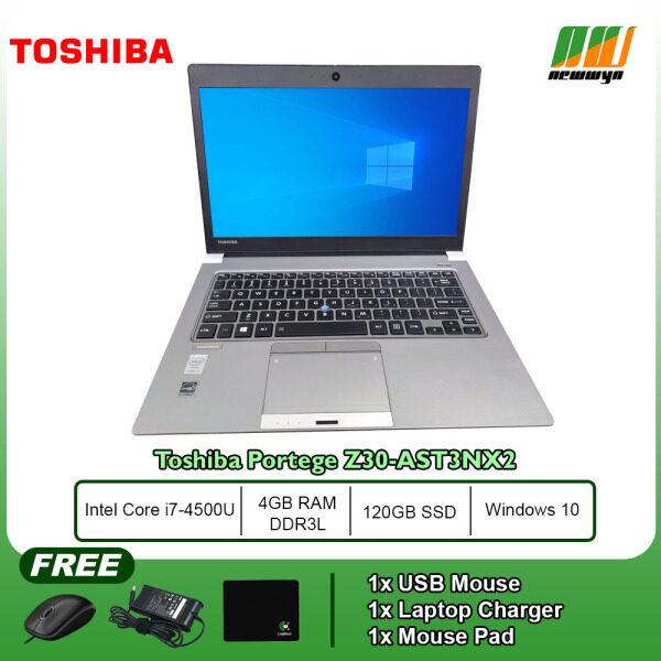 (Refurbished Notebook) Toshiba Portege Z30-AST3NX2 / Core i7-4500U @ 1.8Ghz / 4GB RAM DDR3L / 120GB SSD / WIN 10 PRO Malaysia