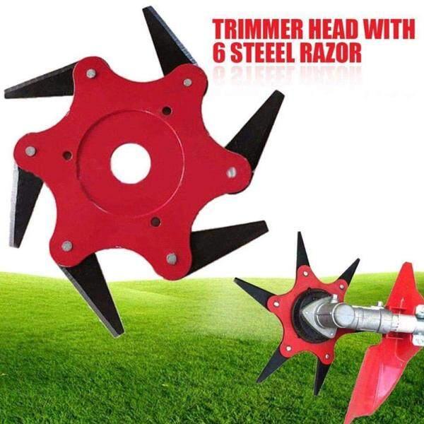 New Lawn Mower Blade 6 Răng Lưỡi Bàn Chải Cutter Trimmer Head 65Mn Kim Loại Blade Vườn Cỏ Đầu Tông Đơ Cho Phụ Kiện Công Cụ Cắt