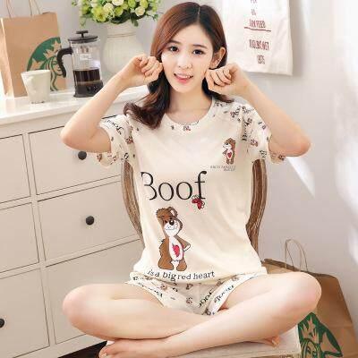 04df9702cad 【SIMPLE & NICE】Korea Fashionista Women Boof Bear Design Casual Summer Wear  Set (
