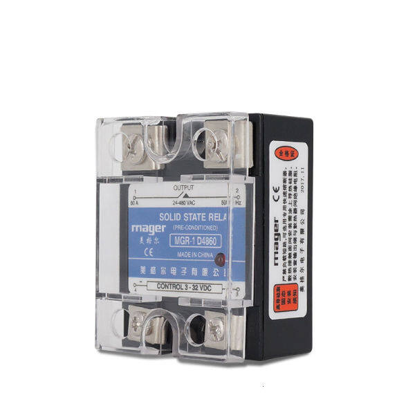 60A Solid State Relay SSR-60DA MGR-1 D4860 3-32VDC TO 24-480 VAC DC To AC With Protective covers