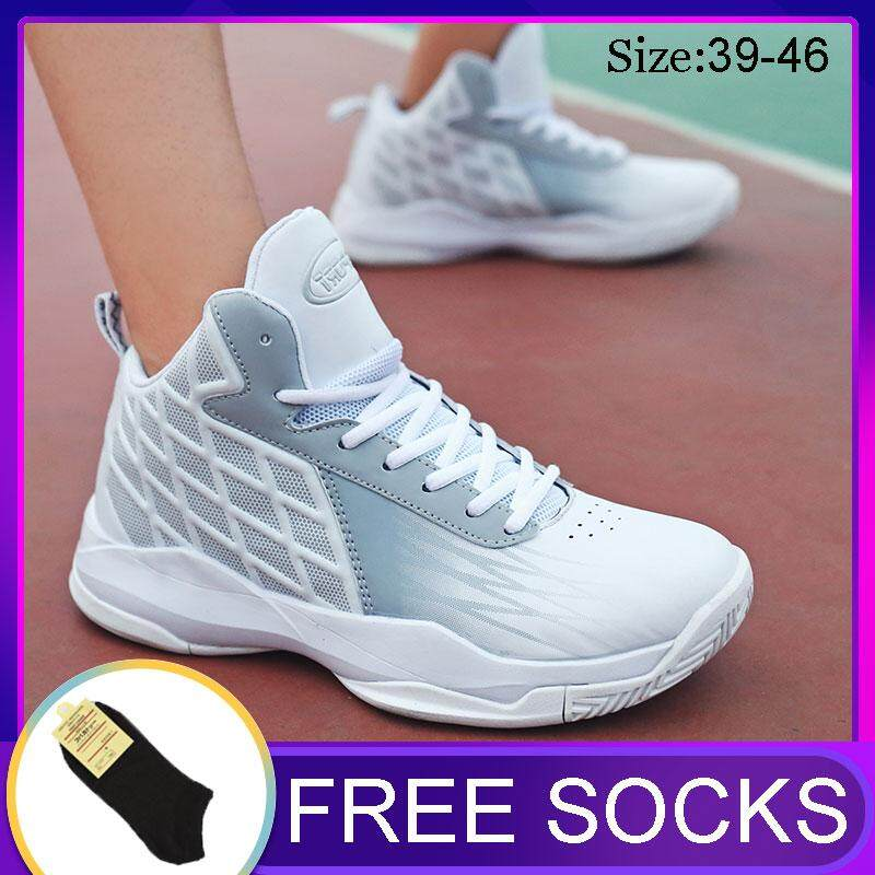 53c11eaa4763 Outdoor Weatherproof Sport Basketball Shoes Breathable Sneaker Size  39-46(kasut Bola Keranjang