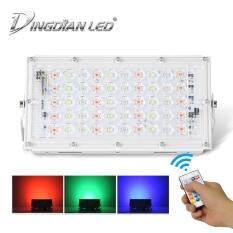Đèn Pha DINGDIAN RGB, 50W, Điều Khiển Từ Xa, Chống Nước, Ngoài Trời, 16 Màu, Cho Đèn Rọi Sân Vườn, Công Viên