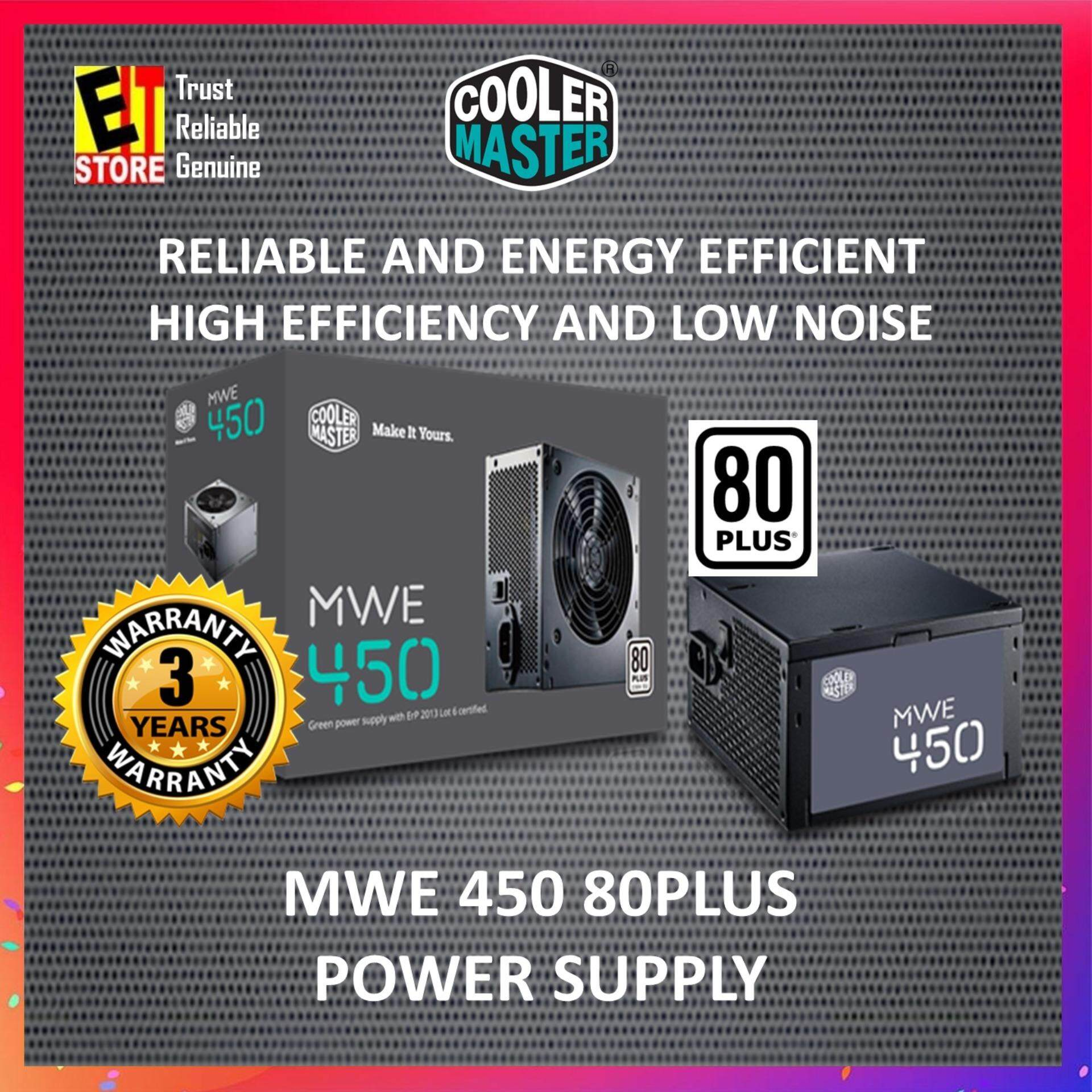 COOLER MASTER MWE 450W 80PLUS ECO PSU (MPW-4502-ACABW-UK) (MWE 450)