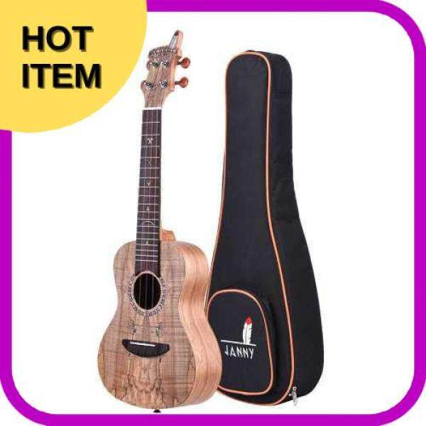 BEST SELLING Acoustic Wooden Soprano Ukulele Ukelele Uke Spalted Maple Wood Carbon String with Padded Carrying Bag Strings Strap Clip-on Tuner Malaysia