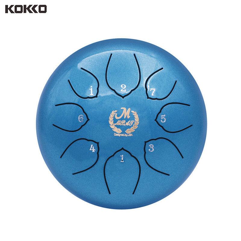 KOKKO Trống Lưỡi thép C Tune Bộ gõ 6 inch với Bộ lưu trữ Gậy Bộ dụng cụ