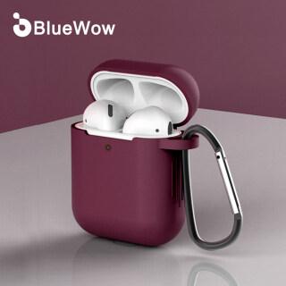 Ốp Airpods BlueWow S03 Ốp Cao Su Silicon Bảo Vệ Macaron Có Móc Áo Siêu Mỏng thumbnail