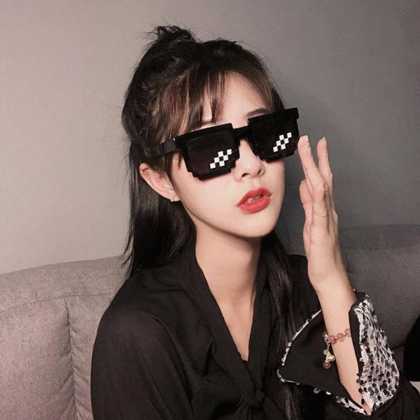 Giá bán Kính Râm Ins Phiên Bản Hàn Quốc Cho Nữ Của Kính Râm Khảm Mặt Tròn Màu Đỏ Học Sinh Nam Xu Hướng Đa Chức Năng Bungee Cool