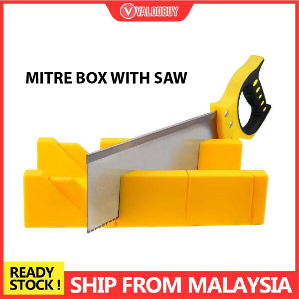 300mm 12 Mitre Box With Back Saw Gergaji Wainscoting Miter Box Storage Plastic Back Saw