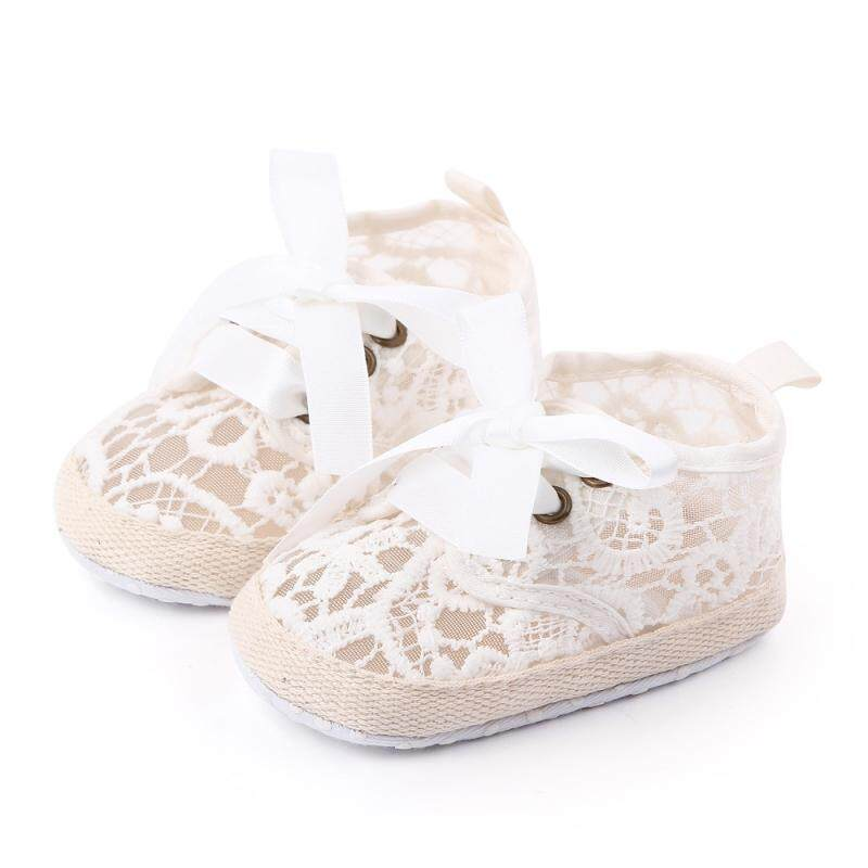 Kids Baby Girls Anti-slip Hollow Bowknot Sandals First Walkers Soft Sole Shoes