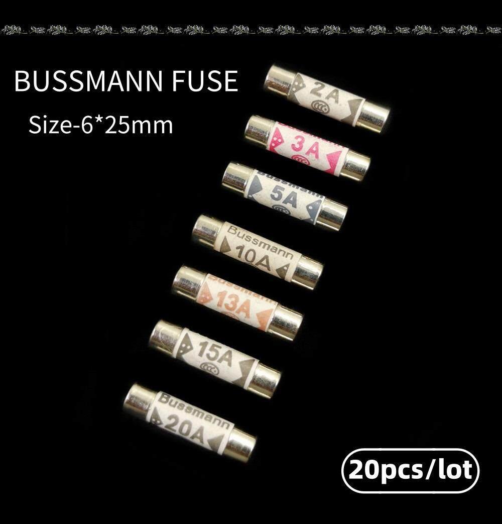 10pcs British Fuses BS1362 Filling sand Riot Ceramic fuse 6x25mm 1A to 20A 2IJMA