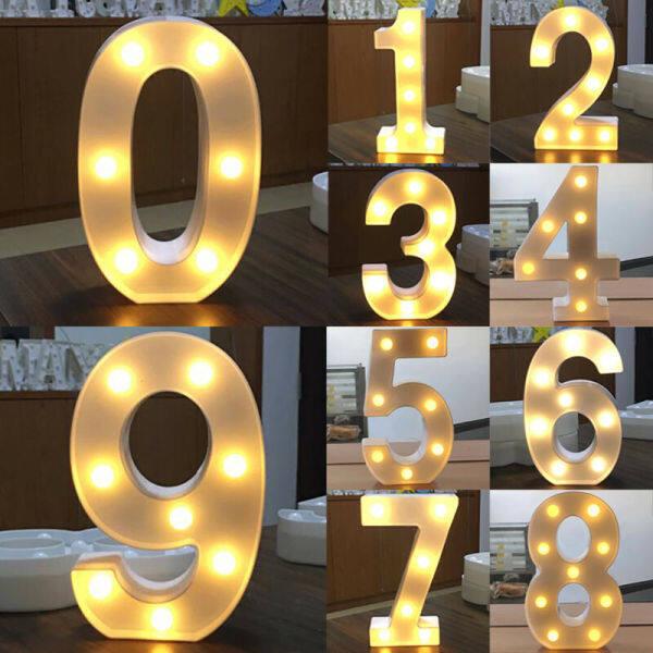 Bảng giá Đèn LED Số Lượng Lớn Rose11, Biển Hiệu Tuổi Sinh Nhật Tiệc Tùng Bằng Nhựa Phát Sáng Trang Trí Nhà