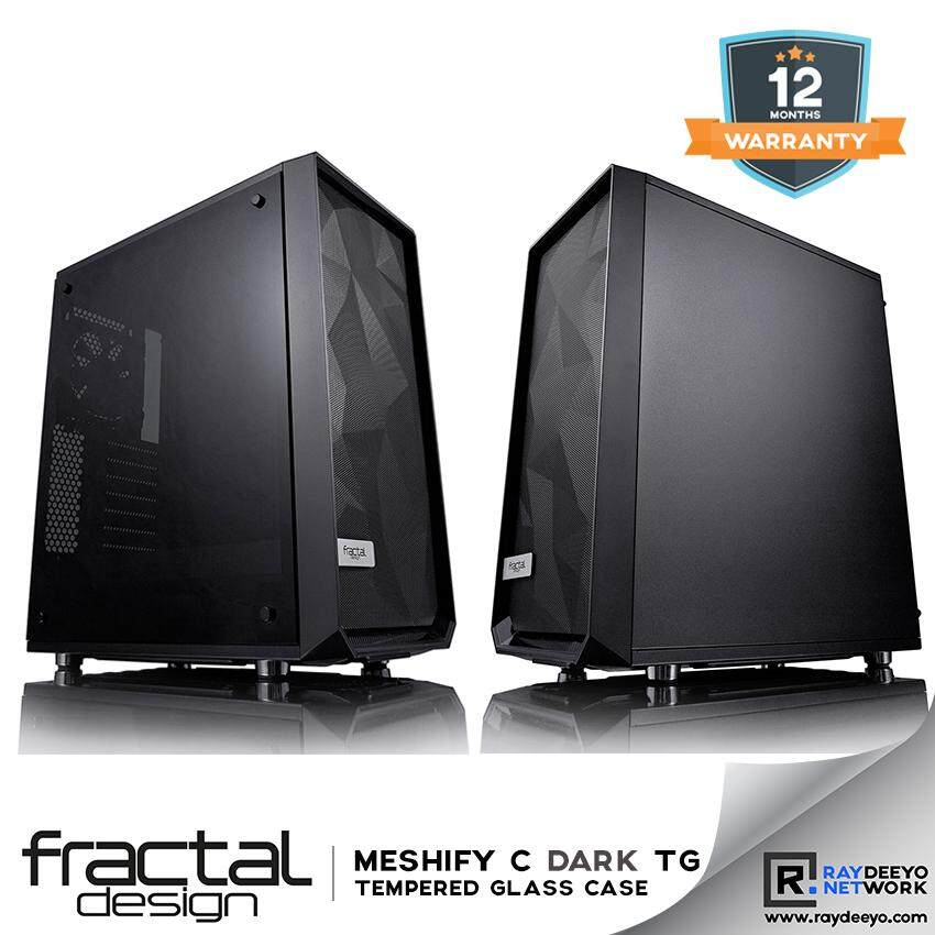 Fractal Design Meshify C Dark Tempered Glass Chassis [ATX, Matx, Mini-ITX] Malaysia