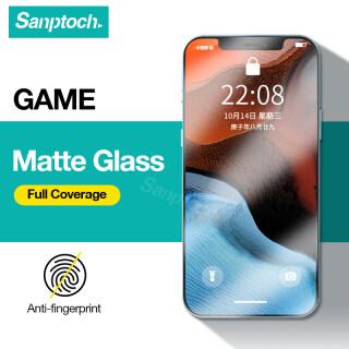 Sanptoch Miếng Bảo Vệ Màn Hình Mờ Trò Chơi, Cho iPhone 11 12 Pro Max 12 Mini Chống-Dấu Vân Tay HD Tempered Glass Dành Cho iPhone X Xs Max XR 7 8 Plus SE 2020 Màng Bảo Vệ Che Phủ Toàn Bộ thumbnail