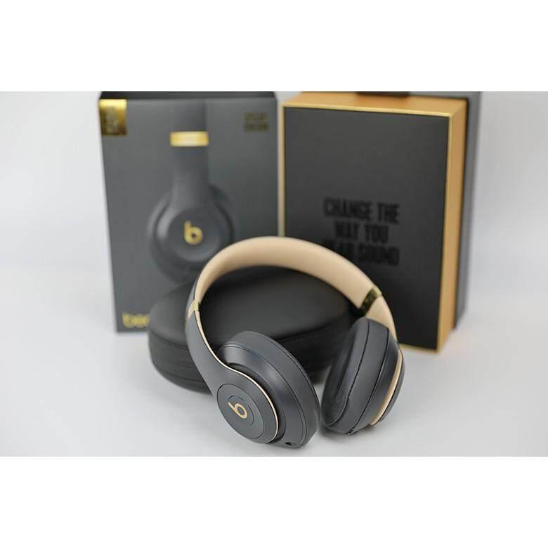 ใหม่ Beats Studio 3โดย Dr Dre ไร้สายบลูทูธ-หูฟัง (เงาสีเทา)
