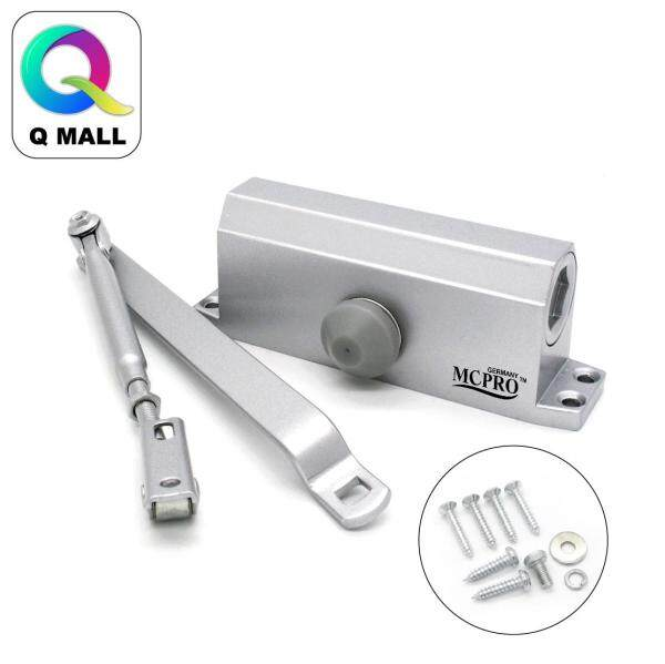 Q MALL Adjustable Mouted Automatic Door Closer - SILVER