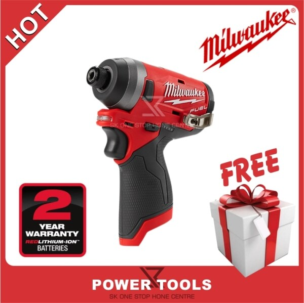 MILWAUKEE M12 FUEL™ 1/4 M12FID-0 Cordless Hex Impact Driver (Tool Only) Bare Tools (battery charger not include)(Free Mystery Gift)