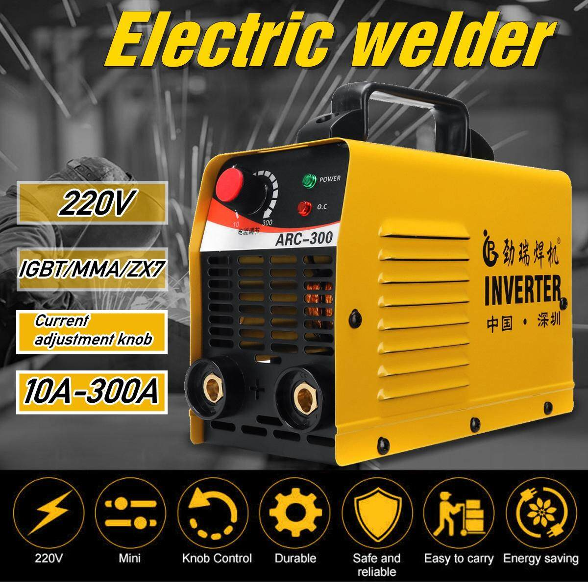 【Free Shipping + Flash Deal】220V ARC-300 10-300A ACR ZX7 IGBT MMA Portable LCD Electric Welder Digital Display Welding Machine