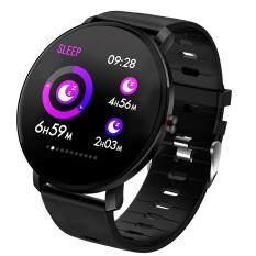 OutFlety Đồng hồ thông minh K9, màn hình màu 1.3 inch, có máy đo nhịp tim, huyết ám, giấc ngủ, đếm số bước và không thấm nước – INTL