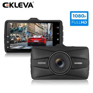 EKLEVA Dash Cam Ống Kính Kép Đầu Ghi Video 3 Inch Full HD 1080P Ghi Lặp Lại Dashcam Registrar Nhìn Trong Đêm G-Sensor Camera Ô Tô thumbnail