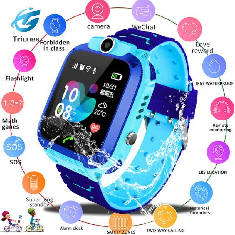 Watch Kids Smart Watch Q12B Phone Watch for Android IOS Life Waterproof LBS Positioning 2G Sim Card Dail Call Malaysia