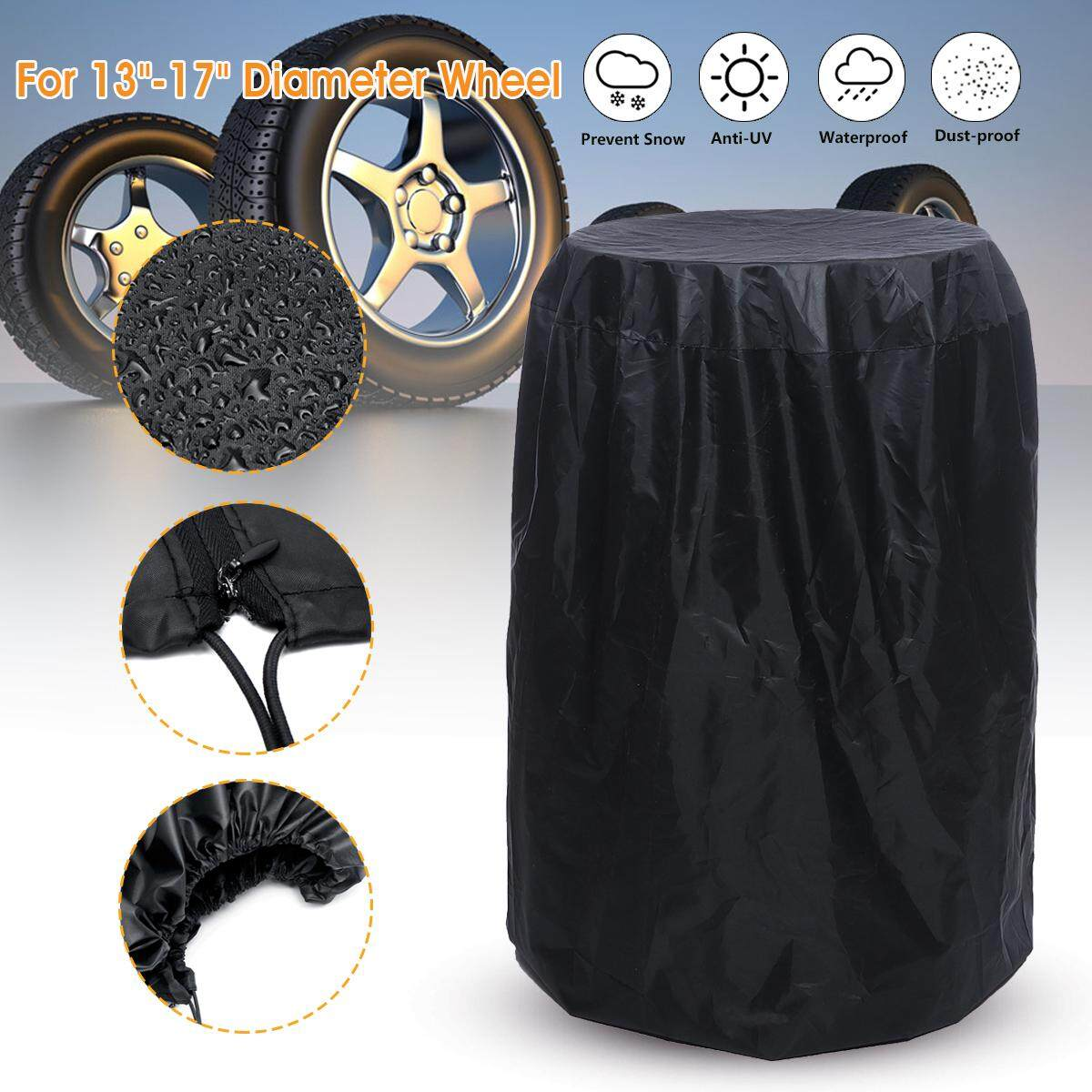 f326cf092d91 Car SUV Tire Storage Bag Spare Wheel Dustproof Protective Cover 32