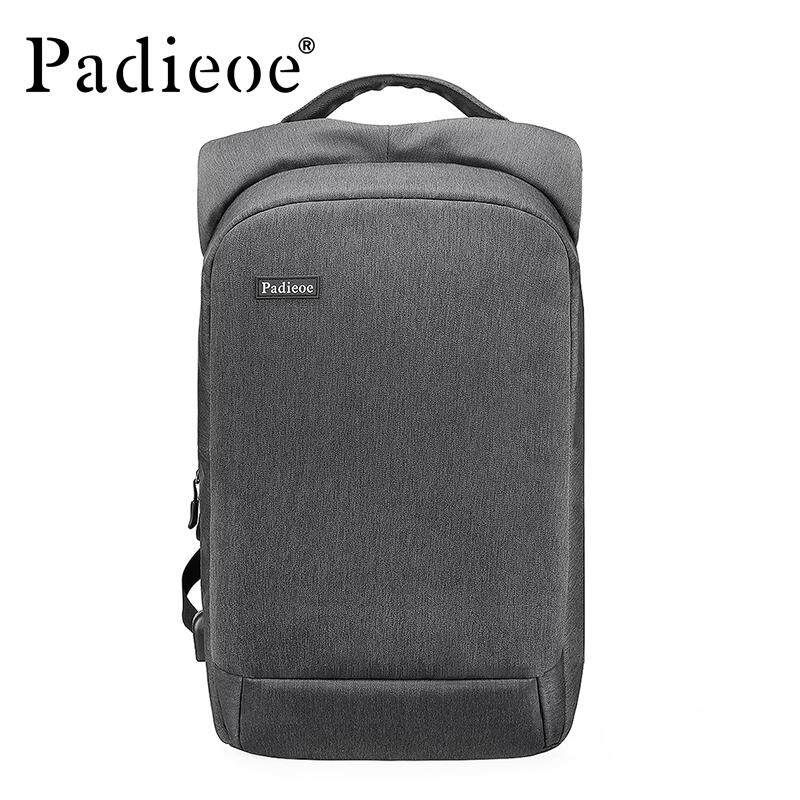 Padieoe 2019 New Fashion Genuine Leather Shoulder Bag Student School Bag Men  High Quality Durable Practical b9b6234a87041