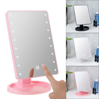Gương Trang Điểm Mặt Bàn Trang Điểm USB Pin Với 22 Đèn LED Điều Chỉnh Độ Sáng Cảm Ứng Màn Hình Sân Khấu, Dụng Cụ Mỹ Phẩm Làm Đẹp Xoay 180 Độ thumbnail