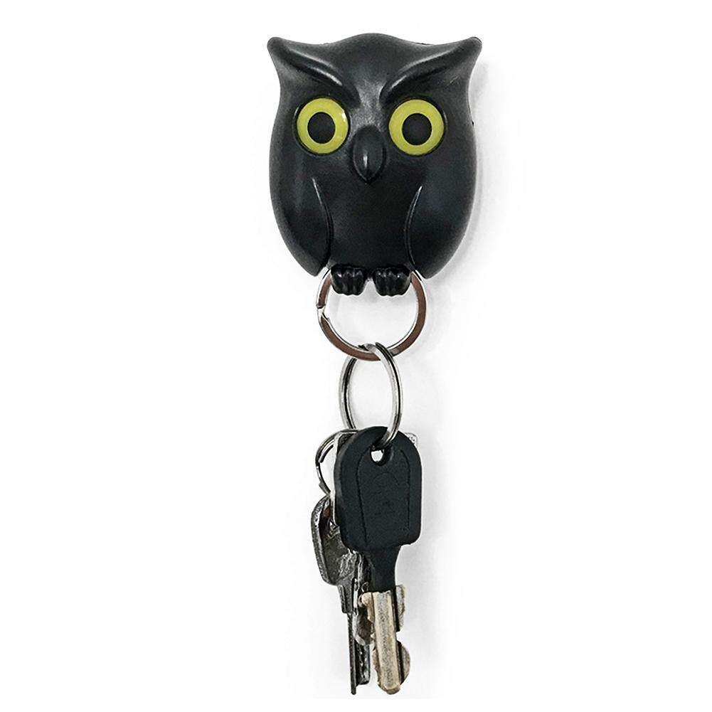 แม่เหล็กบ้านน่ารักนกฮูกกระเป๋าจัดระเบียบรูปทรงติดผนังแขวนที่ใส่กุญแจ.