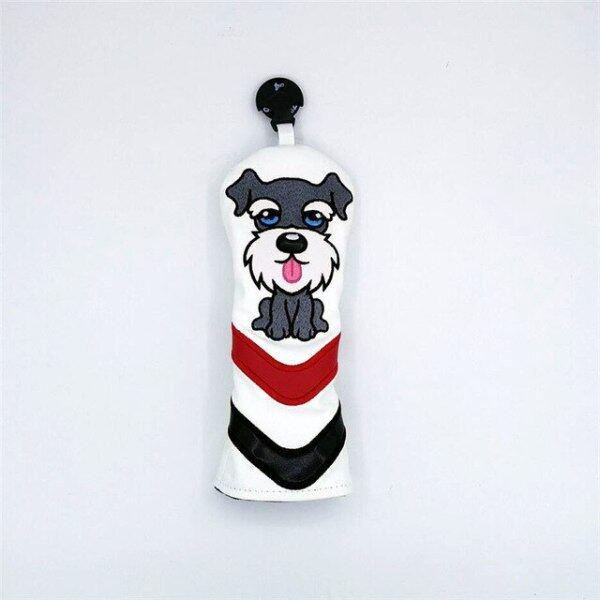 New PU Golf Headcovers Đáng Yêu Dog Golf Điều Khiển Fairway Woods Lai Bao Gồm 135ut Bộ Hoàn Chỉnh Linh Vật Món Quà Mới Lạ