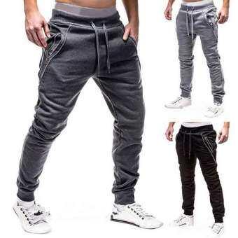 ผู้ชายสบายๆกีฬายิม Slim กางเกงขายาวเข้ารูปกางเกงวิ่ง Sweatpants-