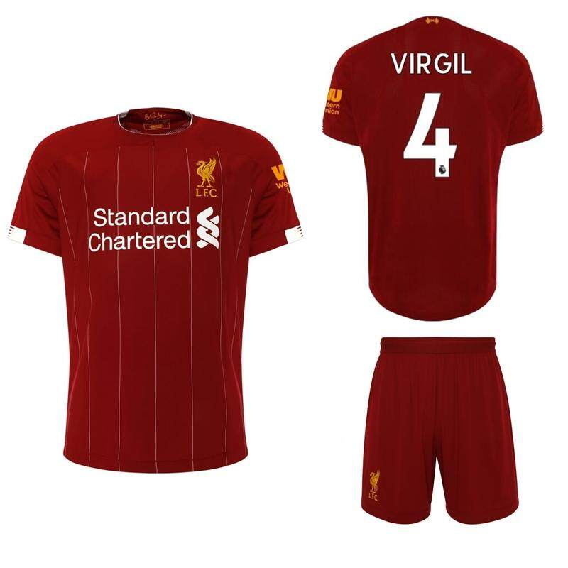 fdcb6fada 2019/20 Children Top Quality Liverpool_Kit No.4 VIRGIL Home Football Jersey  Kit No.9 FIRMINO soccer Shirt free shorts Home Stadium Suits for Kids Boys  ...