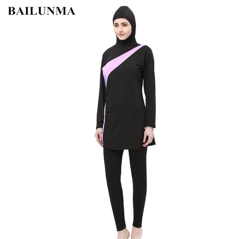 ce29237319 Young Women Muslim Swimwear Beach Bathing Suit Muslimah Islamic Swimsuit  Swim Surf Wear Sport Clothing burqini