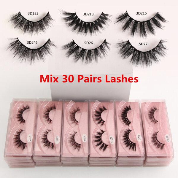 Buy MAANGE Wholesale Eyelashes 30 Pairs Mink Eyelashes Makeup Volume 3D Mink Lashes Natural False Eyelashes Singapore