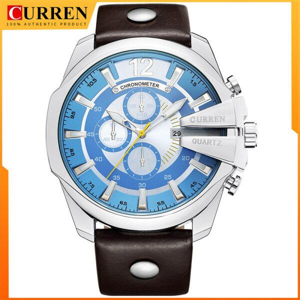 CURREN Mens Casual Sport Quartz Watch Mens Watches Top Brand Luxury Quartz-Watch Leather Strap Military Watch Wrist Male Watch 8176 Malaysia