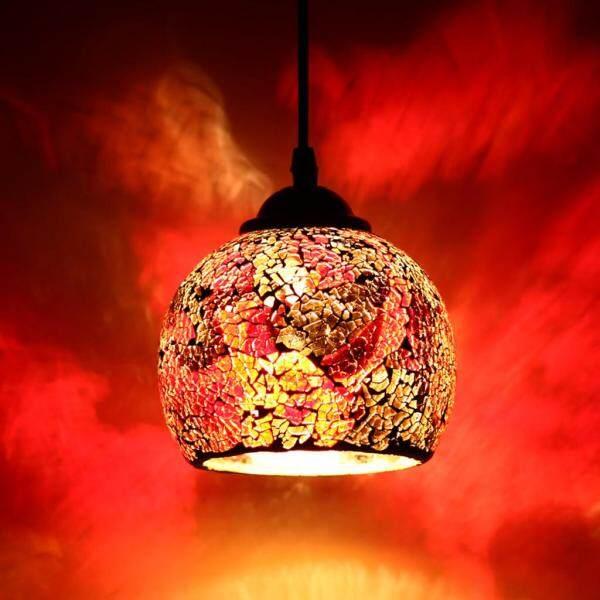 Đèn Chiếu Sáng Đèn Treo Cổ Điển Chất Lượng Cao Mosaic Thiết Kế Mặt Dây Chuyền Trần Chụp Đèn Kính Màu Dành Cho Ban Công, Hành Lang, Quán Bar, Món Tráng Miệng, Người Bán Hoa