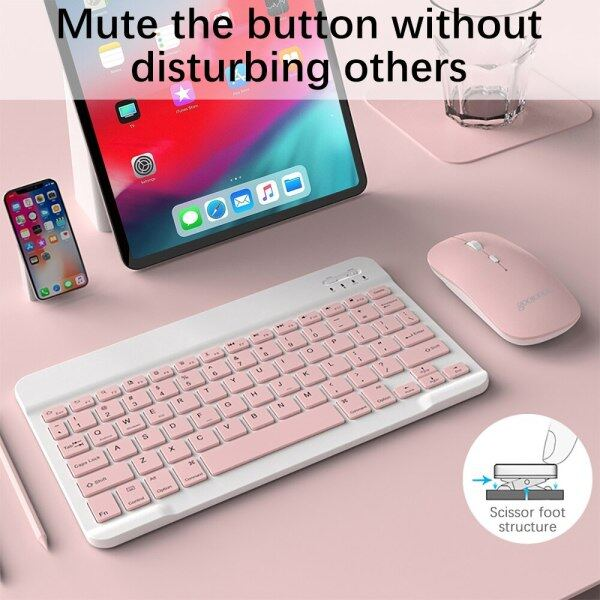 Sudu Bluetooth Keyboard Is Suitable for Apple Android Mobile Phone Tablet Computer Universal Ultra-thin Portable Bluetooth Keyboard and Mouse Set Office Gaming Mouse Malaysia